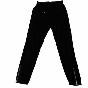 Black Lightweight Elastic High Waist Cropped Pant